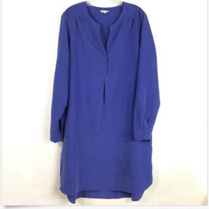 Pleione Women's Large Dress Blue Shirt Long Sleeve